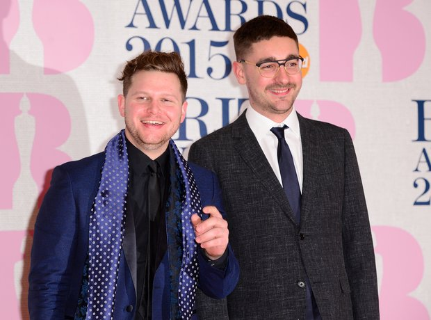 Alt-J on the red carpet at the BRIT Awards 2015