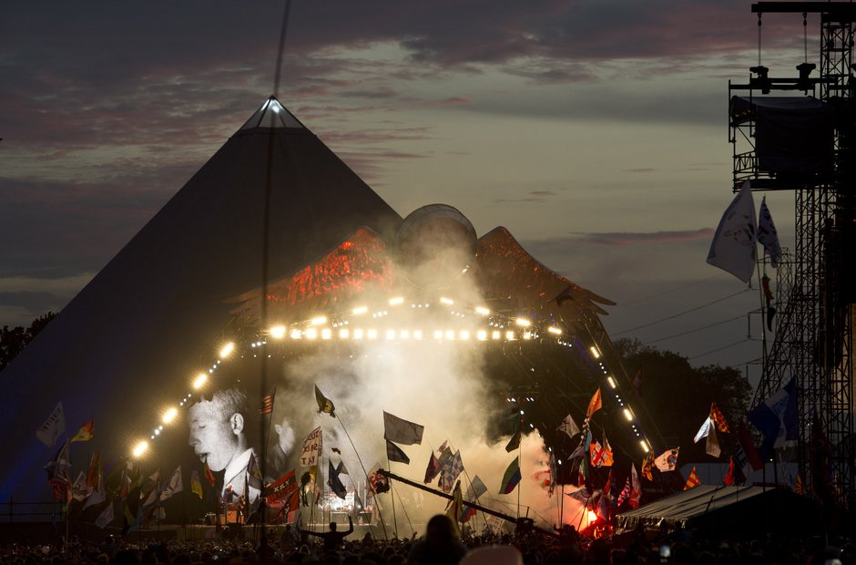 The Who on the Pyramid Stage at Glastonbury 2015