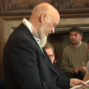 Michael Eavis talking at the Oxford Union