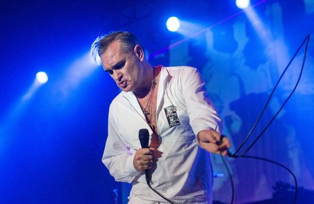 Morrissey performing in 2014