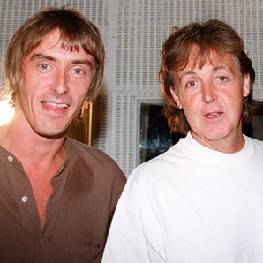 Paul Weller, Paul McCartney and Noel Gallagher at