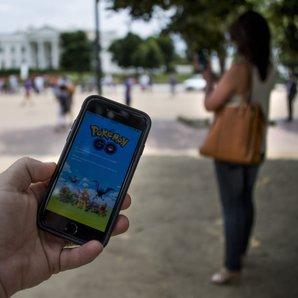 Pokemon Go image with woman