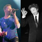 Chris Martin and Gene Wilder splitscreen