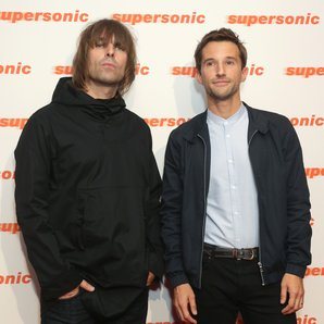 Liam Gallagher and Mat Whitecross at the Supersoni
