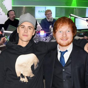 Ed Sheeran Justin Bieber Chris Moyles Show still