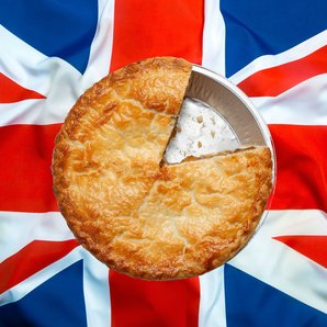 Pie British Flag stock image