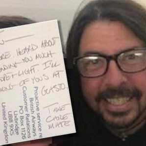 Dave Grohl writes note to widowed fan