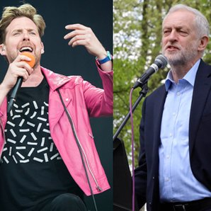 Ricky Wilson and Jeremy Corbyn