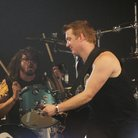 Josh Homme and Dave Grohl with John Pual Jones