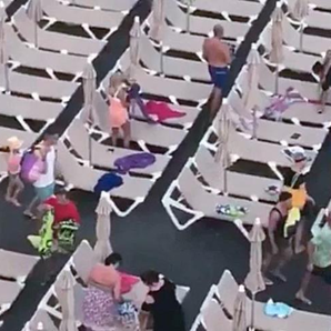 Brits make mad dash for sun loungers