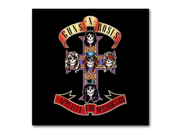 Guns N'Roses - Appetite For Destruction album cove